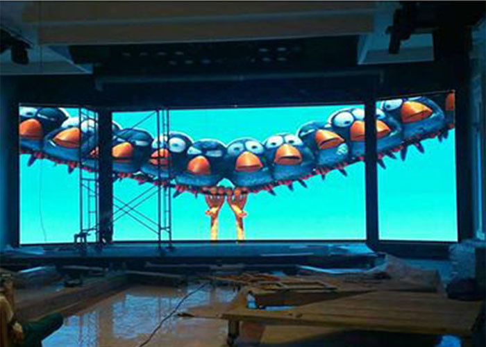 Wall Mounted Curved Indoor Full Color Led Display P3.91 860w High Brightness